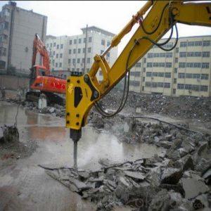 تخریب بتن با دستگاه های هیدرولیکی